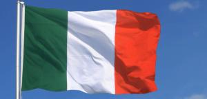 Flagrende italiensk flag