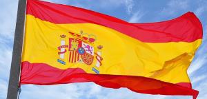 Flagrende spansk flag