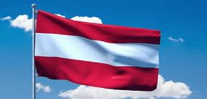 Flagrende østrigs flag