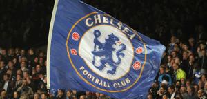 Chelsea FC fodblod klub flag og fans
