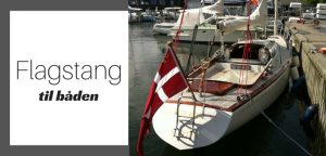 Flagstang til båd