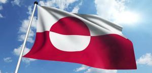 Grønlands flag - flagrende
