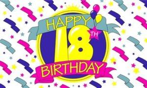 18 års fødselsdagsflag