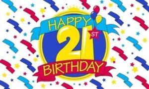 21 års fødselsdagsflag