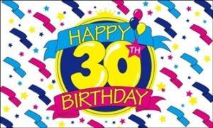 30 års fødselsdagsflag