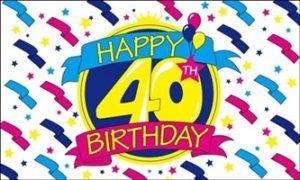 40 års fødselsdagsflag