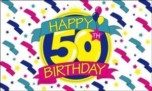 50 års fødselsdagsflag