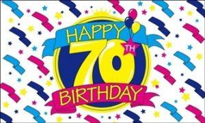70 års fødselsdagflag